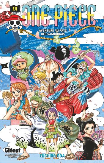 Couverture One Piece, tome 91 : Aventure au pays des Samouraïs