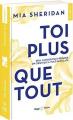 Couverture Toi plus que tout Editions Hugo & cie (Poche - New romance) 2019