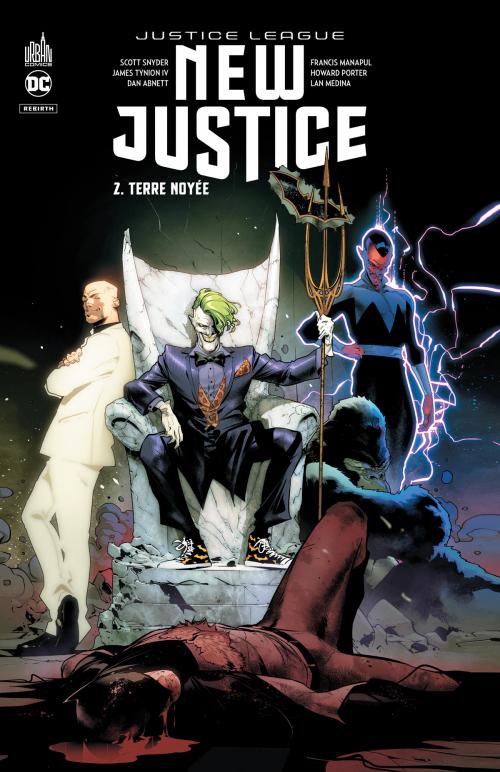 Couverture Justice League : New Justice, tome 2 : Terre Noyée