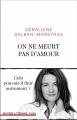 Couverture On ne meurt pas d'amour  Editions Plon 2019