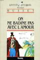 Couverture On ne badine pas avec l'amour Editions Bordas (Univers des lettres) 1963
