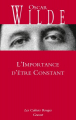 Couverture L'importance d'être constant Editions Grasset (Les Cahiers Rouges) 2013