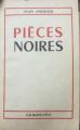 Couverture Pièces noires Editions Calmann-Lévy 1957