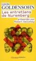 Couverture Les entretiens de Nuremberg Editions Flammarion (Champs - Histoire) 2009