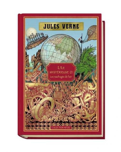 Couverture L'île mystérieuse (3 tomes), tome 1 : Les naufragés de l'air
