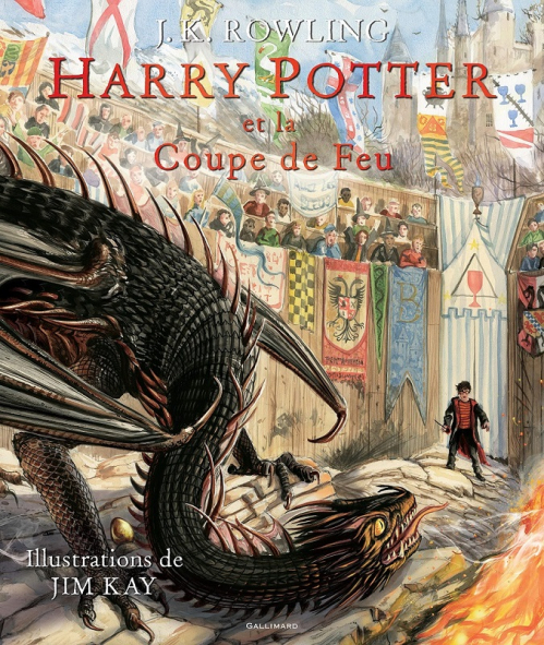 Couverture Harry Potter, illustré, tome 4 : Harry Potter et la coupe de feu