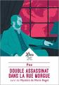 Couverture Double assassinat dans la rue Morgue suivi de Le mystère de Marie Roget Editions Librio 2018