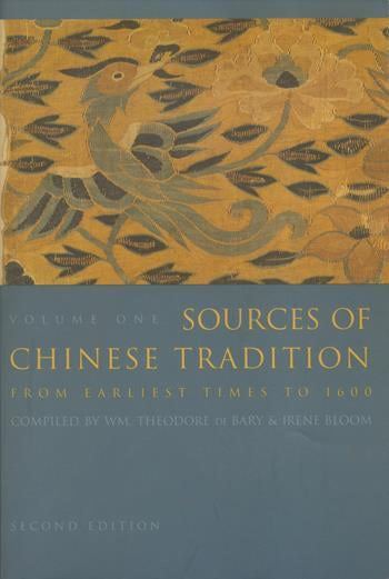 Couverture Sources of Chinese Tradition, From Earliest Times to 1600