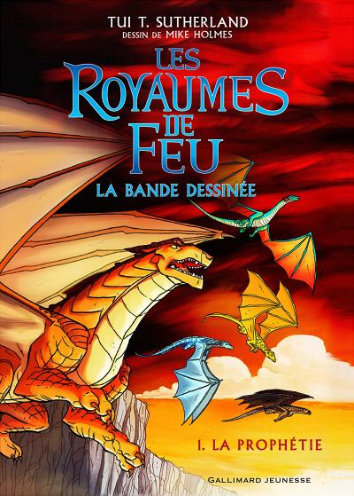 Couverture Les Royaumes de Feu (BD), tome 1 : La prophétie