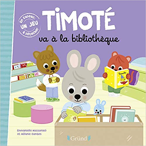 Couverture Timoté va a la bibliothèque