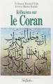 Couverture Réflexions sur le Coran Editions Seghers 1989