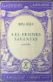 Couverture Les Femmes savantes Editions Larousse (Classiques) 1933
