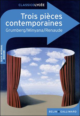 Couverture Trois pièces contemporaines