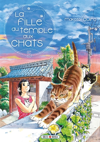 Couverture La fille du temple aux chats, tome 5