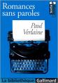 Couverture Romances sans paroles Editions Gallimard  2001