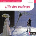 Couverture L'île des esclaves Editions Nathan (Carrés classiques) 2012