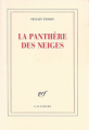 Couverture La panthère des neiges Editions Gallimard  2019