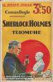 Couverture Sherlock Holmes triomphe Editions La renaissance du livre 1932