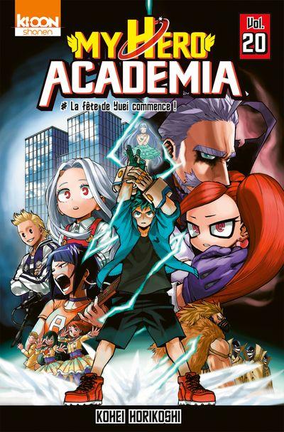 Couverture My Hero Academia, tome 20 : La fête de Yuei commence !