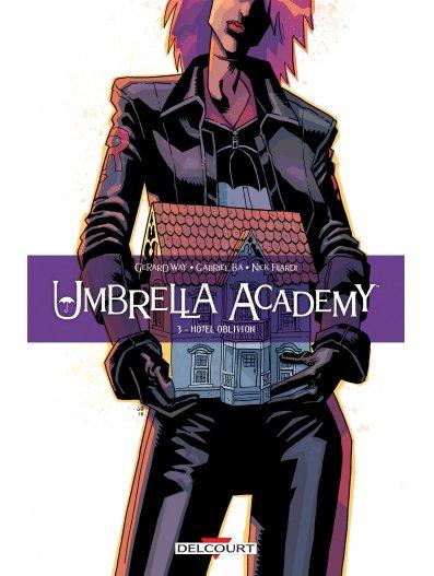 Couverture Umbrella Academy, tome 3 : Hôtel Oblivion