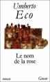 Couverture Le nom de la rose Editions Grasset 1990