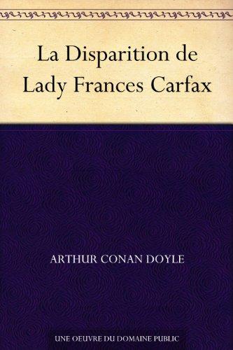 Couverture La Disparition de Lady Frances Carfax