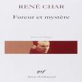 Couverture Fureur et mystère Editions Gallimard  (Poésie) 2012
