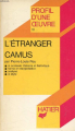 Couverture L'étranger Editions Hatier 1981