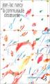 Couverture La communauté désoeuvrée Editions Christian Bourgois  2004
