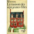 Couverture La maison des sept jeunes filles Editions Folio  1976