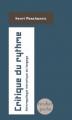 Couverture Critique du rythme Editions Verdier 2009