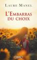 Couverture L'embarras du choix Editions Michel Lafon 2019