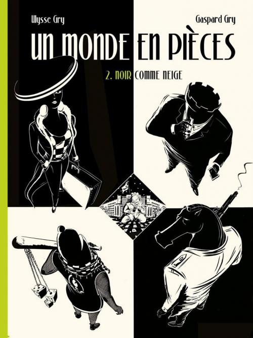 Couverture Un monde en pièce, tome 2 : Noir comme neige