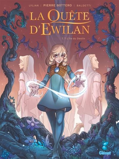 Couverture La quête d'Ewilan (BD), tome 7 : L'île du Destin