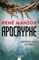 Couverture Apocryphe Editions Calmann-Lévy (Suspense) 2018