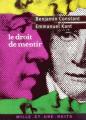Couverture Le droit de mentir Editions Mille et une nuits 2003