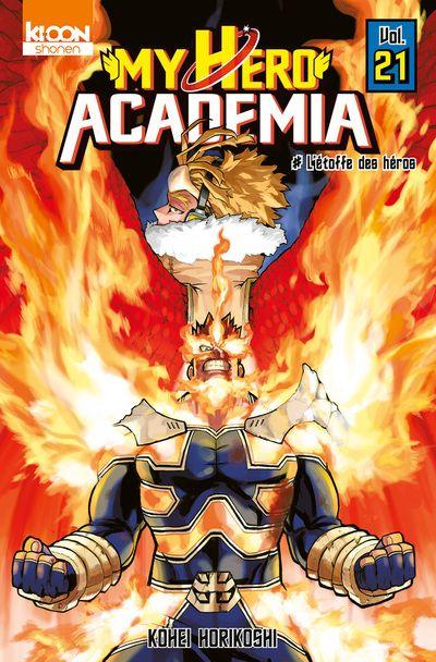 Couverture My Hero Academia, tome 21 : L'étoffe des héros