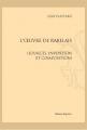 Couverture L'oeuvre de Rabelais (sources, invention et compositions) Editions Slatkine 2016