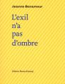 Couverture L'exil n'a pas d'ombre Editions Bruno Doucey 2019