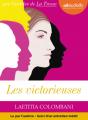 Couverture Les victorieuses Editions Audiolib 2019