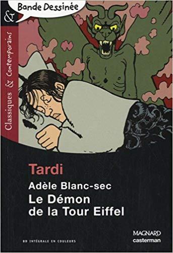 Couverture Les Aventures Extraordinaires d'Adèle Blanc-Sec, tome 02 : Le démon de la Tour Eiffel