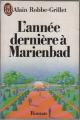 Couverture L'année dernière à Marienbad Editions J'ai Lu 1961