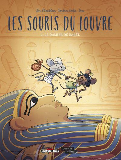 Couverture Les souris du Louvre, tome 2 : Le damier de Babel