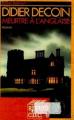 Couverture Meutre à l'anglaise Editions Mercure de France 1988