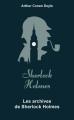 Couverture Les archives de Sherlock Holmes Editions Archipoche 2019