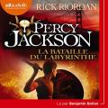 Couverture Percy Jackson, tome 4 : La bataille du labyrinthe Editions Audible studios 2019