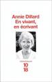 Couverture En vivant, en écrivant Editions 10/18 (Bibliothèques) 1998