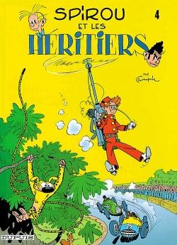 Couverture Spirou et Fantasio, tome 04 : Spirou et les héritiers