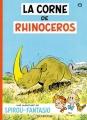 Couverture Spirou et Fantasio, tome 06 : La Corne de rhinocéros Editions Dupuis 1956