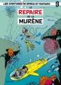 Couverture Spirou et Fantasio, tome 09 : Le Repaire de la murène Editions Dupuis 1957